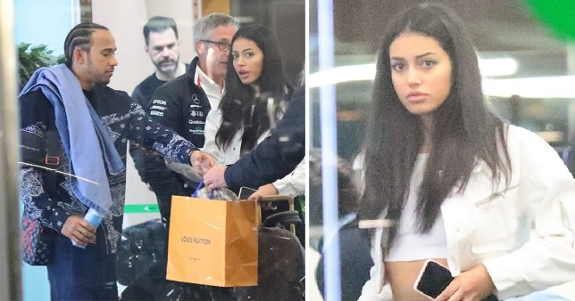 Lewis Hamilton Fuels Cindy Kimberly Dating Rumours On Barcelona