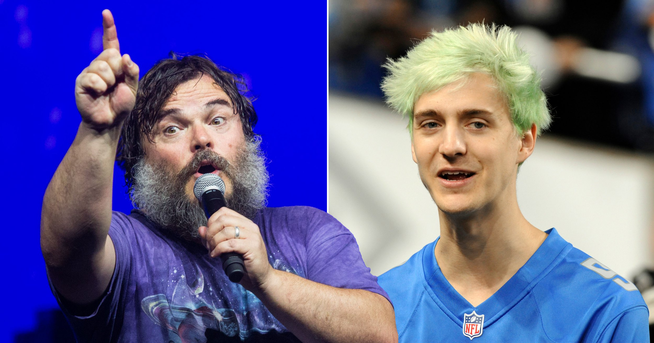 Jack Black challenges Ninja to a fight as he taunts: 'I'm ready for you…almost'