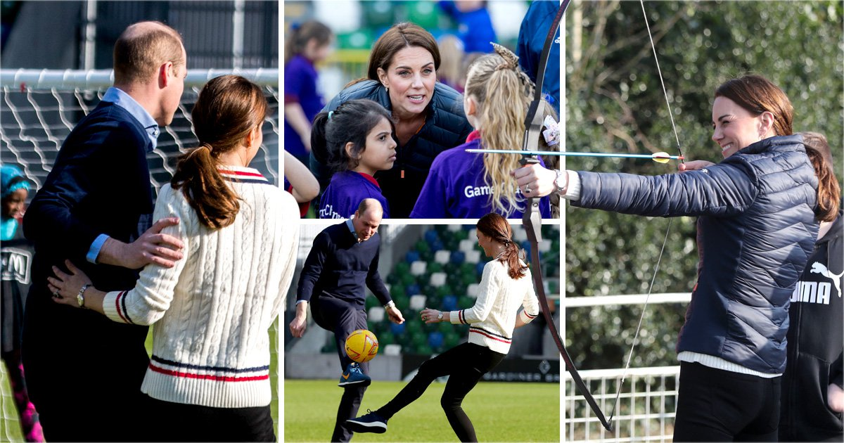 Kate and William got flirty as they met head-to-head on the football field