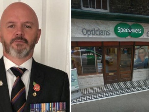 War veteran 'accused of killing innocent people' during Specsavers eye exam