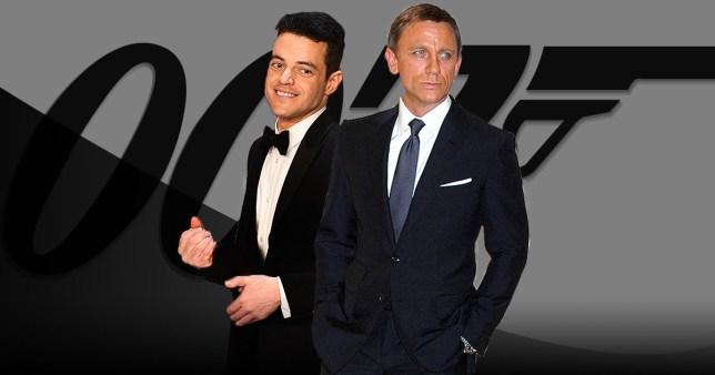 Daniel Craig and Rami Malek