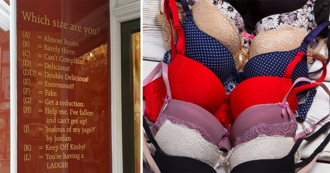 f7298a6cdfd6 Bra shop accused of 'body shaming' their customers saying 'A cup is almost  boobs' and 'E cup is enormous'