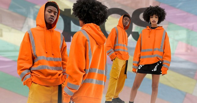 572c9dceb0f Asos is selling high visibility builder hoodies so you can stop ...
