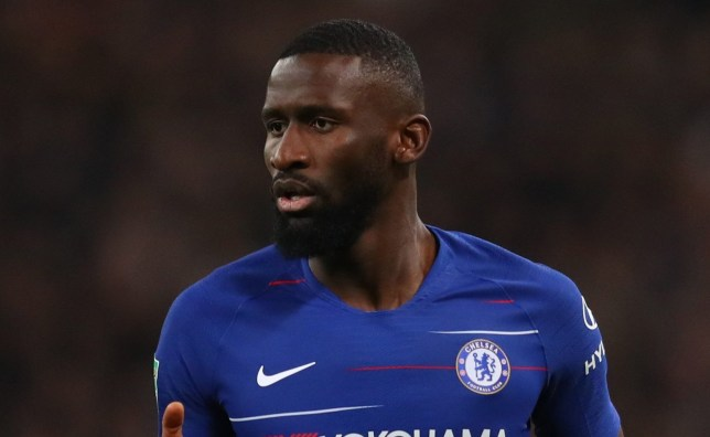 LONDON, ENGLAND - JANUARY 08: Antonio Rudiger of Chelsea during Carabao Cup Semi-Final between Tottenham Hotspur and Chelsea at Wembley Stadium on January 8, 2019 in London, England. (Photo by Catherine Ivill/Getty Images)