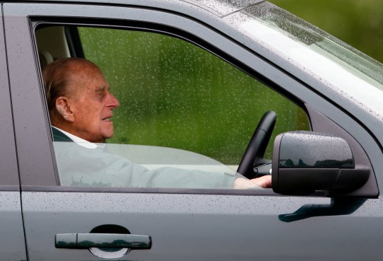 FILE PHOTO: Duke of Edinburgh involved in car crash near Sandringham Estate WINDSOR, UNITED KINGDOM - MAY 14: (EMBARGOED FOR PUBLICATION IN UK NEWSPAPERS UNTIL 48 HOURS AFTER CREATE DATE AND TIME) Prince Philip, Duke of Edinburgh watches the Dressage phase of the Carriage Driving competition whilst sitting in his Land Rover on day 2 of the Royal Windsor Horse Show in Home Park on May 14, 2015 in Windsor, England. (Photo by Max Mumby/Indigo/Getty Images)