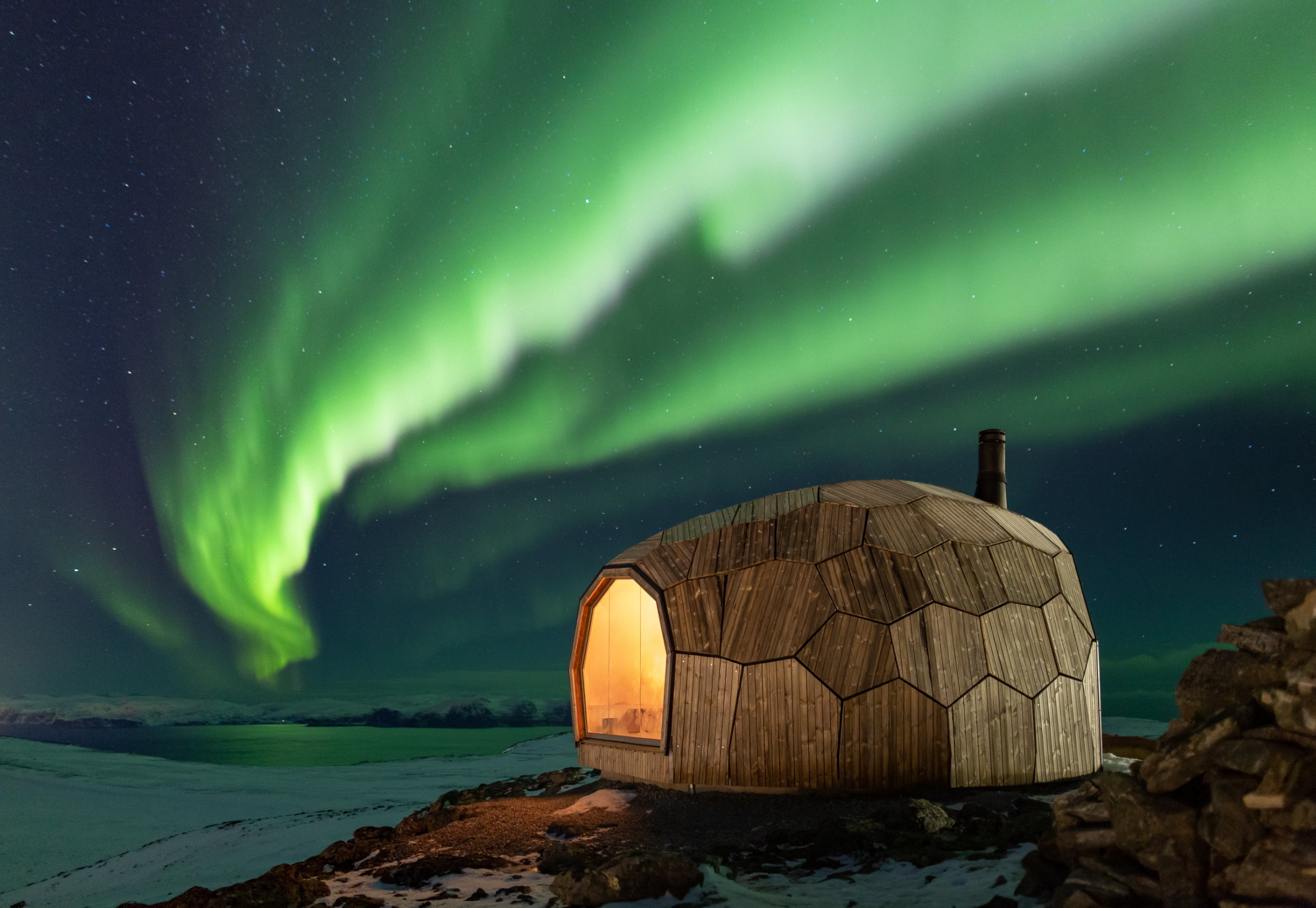A 3D puzzle cabin in Norway offers respite for worn-out hikers