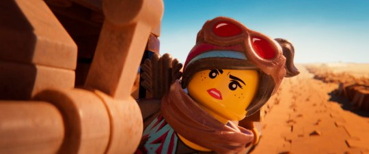 The character Lucy/Wyldstyle, voiced by Elizabeth Banks