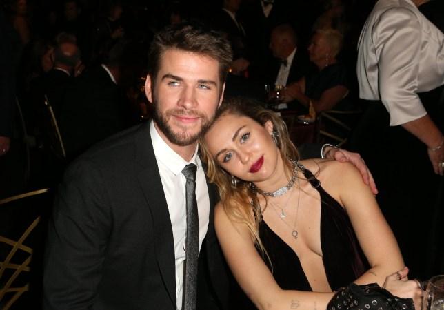 Mandatory Credit: Photo by David Buchan/Variety/REX (10073443e) Liam Hemsworth and Miley Cyrus G'Day USA Gala, Inside, 3Labs, Los Angeles, USA - 26 Jan 2019