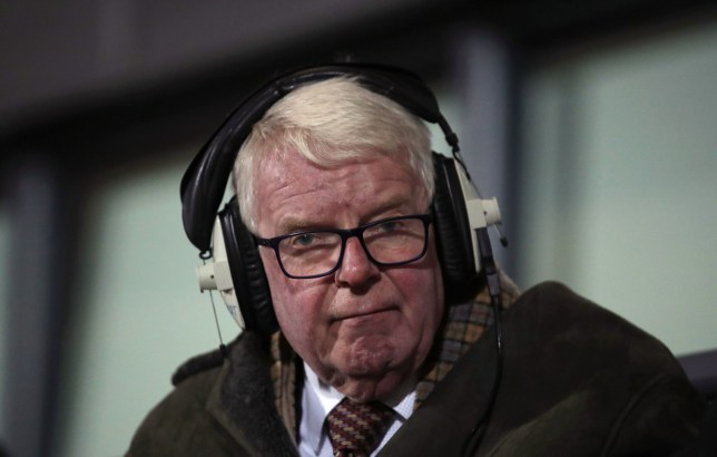 "Commentator John Motson during the FA Cup fourth round match at The Hive London. PRESS ASSOCIATION Photo. Picture date: Monday January 28, 2019. See PA story SOCCER Barnet. Photo credit should read: John Walton/PA Wire. RESTRICTIONS: EDITORIAL USE ONLY No use with unauthorised audio, video, data, fixture lists, club/league logos or ""live"" services. Online in-match use limited to 120 images, no video emulation. No use in betting, games or single club/league/player publications"