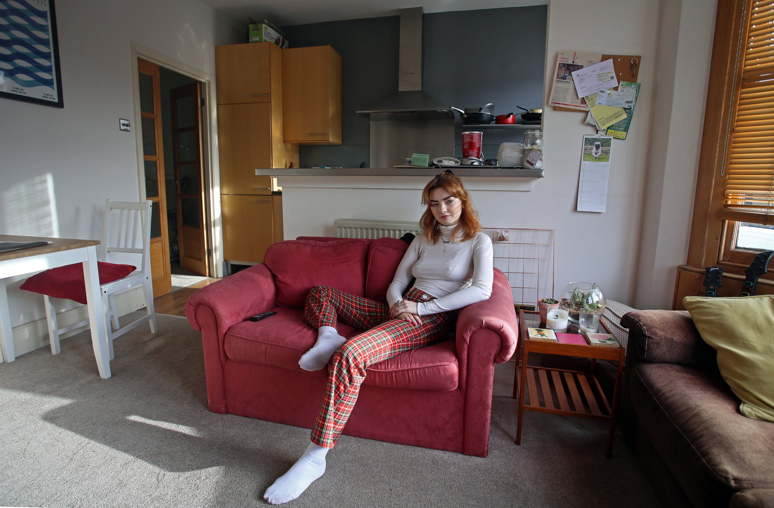 Hannah shares a three-bedroom flat in Brockley with two people she met online