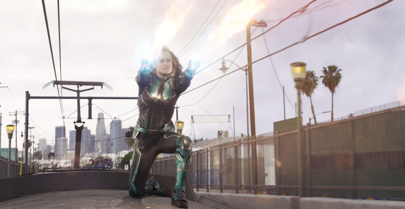 Mandatory Credit: Photo by Film Frame/LILO/SIPA/REX/Shutterstock (10044136i) Brie Larson 'Captain Marvel' film stills, Los Angeles, USA - 19 Sep 2018
