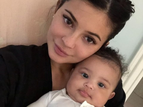 Kylie Jenner's daughter Stormi is still opening her first birthday presents and there's a Gucci gift waiting