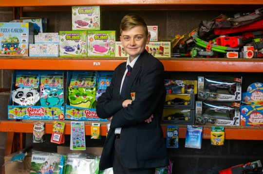 Please note - sent under embargo - no use before 12.00PM GMT Feburary 3 2019 Tommy Howard aged 14, inside his warehouse in Hawkchurch, Devon. Tommy runs a top-rated eBay business. See SWNS story SWTPebay; Meet the 14-year-old eBay entrepreneur who has built an online toy shop from his family's milking parlour - and now turns over ??15,000 a year. Schoolboy Tommy Howard runs his own online toy shop, stocking 1,000 products he ships all over the world when he gets home from school. He got the idea when his little brother put a ??35 Nerf gun on his birthday list two years ago, and Tommy realised you could buy a whole bundle second hand for less. Savvy Tommy sold eggs from the family farm to buy his first batch of weapons, and then reinvested the money - with his pocket money - to buy new stock.