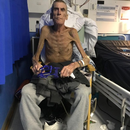 This was the condition Steve Smith was in in hospital in December - before he fought and won a tribunal allowing him vital benefits