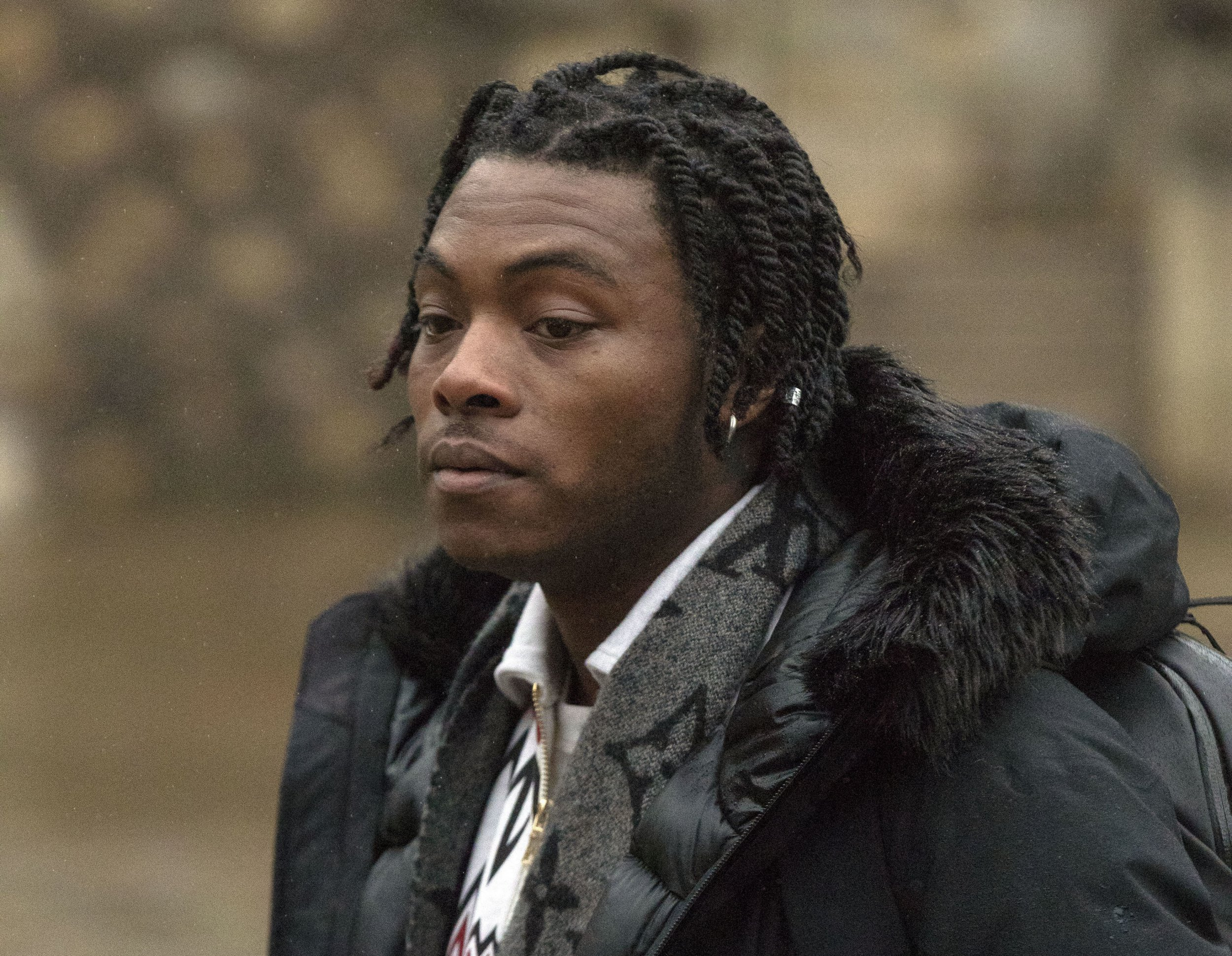 Ceon Broughton, 29, arrives at Winchester Crown Court where he is charged in connection with the death of Louella Fletcher-Michie. PRESS ASSOCIATION Photo. Picture date: Monday February 4, 2019. The daughter of Holby City actor John Michie died after taking the party drug 2CP at the Bestival music festival in Dorset on September 11, 2017. See PA story COURTS Bestival. Photo credit should read: Steve Parsons/PA Wire