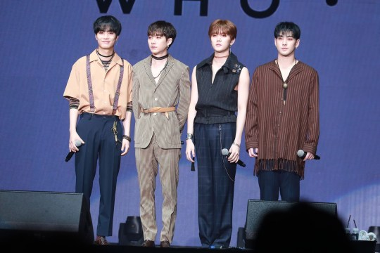 Mandatory Credit: Photo by Imagine China/REX/Shutterstock (9727840b) (From left) JR, Aron, Ren and Baekho NU'EST 'Who, You' album release, Seoul, South Korea - 25 Jun 2018