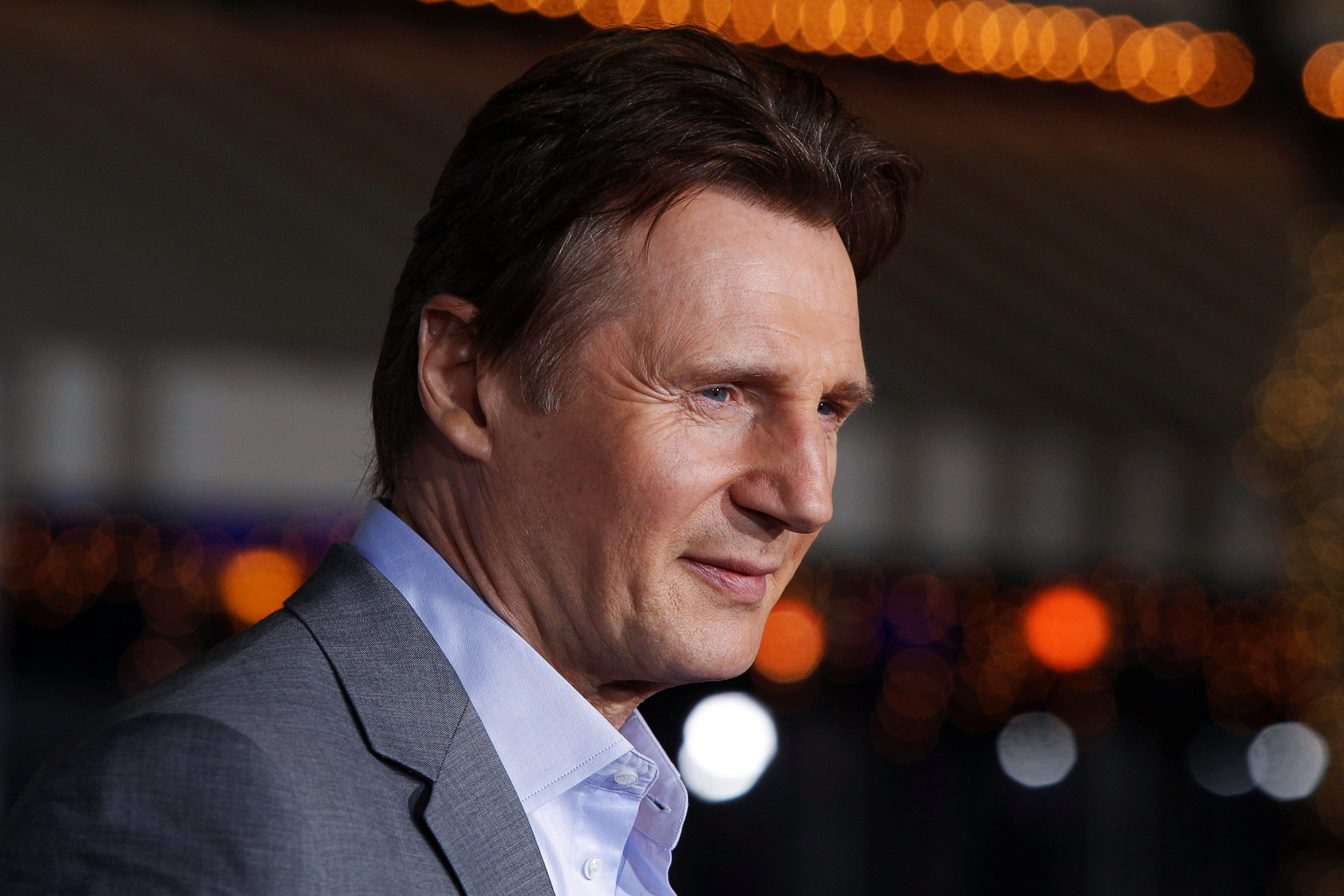 "FILE PHOTO: Irish actor Liam Neeson poses at the premiere of his film ""Non-Stop"" in Los Angeles February 24, 2014. REUTERS/Fred Prouser/File Photo"