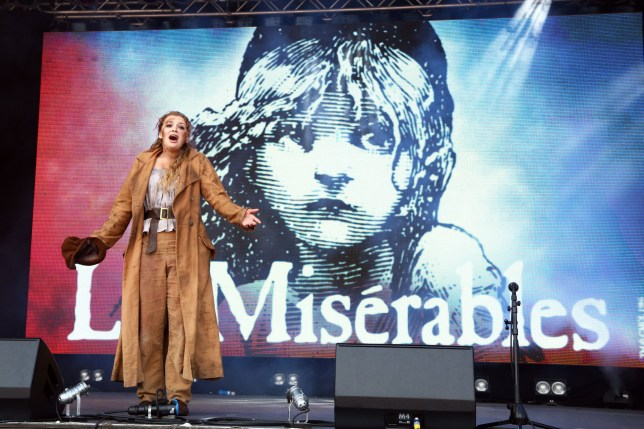Carrie Hope Fletcher from the cast of 'Les Miserables' West End Live in Trafalgar Square, London