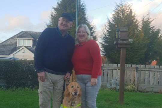 A taxi driver has lost his licence after he refused to pick up a blind man and his guide dog. Private hire driver Mohammed Saghir, of Sneinton Boulevard, in Nottinghamshire, arrived at a pub near Trent Bridge to take Mark Whittle and his wife, Catherine, home. The 59-year-old arrived outside the pub, which the couple had gone to after taking part in the Great Notts Bike Ride on June 24, 2018, and sent a text to tell them he was waiting. However, when Mr and Mrs Whittle emerged from the pub alongside Archer, their guide dog, he drove off. He pleaded guilty to failing to pick up a customer and accept a fare at Derby Justice Centre in December, and he lost his licence after a review was conducted by Nottingham City Council. CAPTION: Mark Whittle, his wife Catherine and his dog Archer