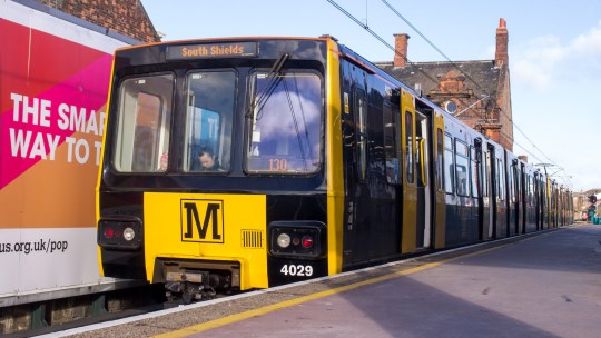 File Pic: Metro train at South Shields