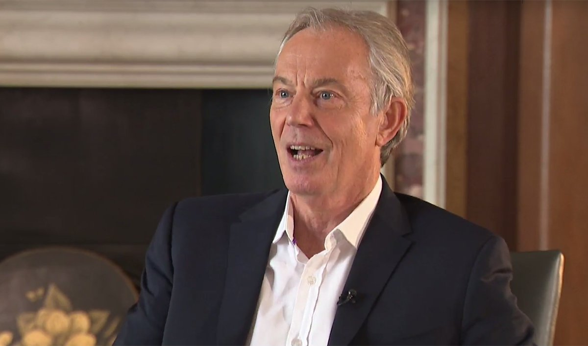 Tony Blair appearing on Sky News 10.02.2019 (Picture: Sky News)