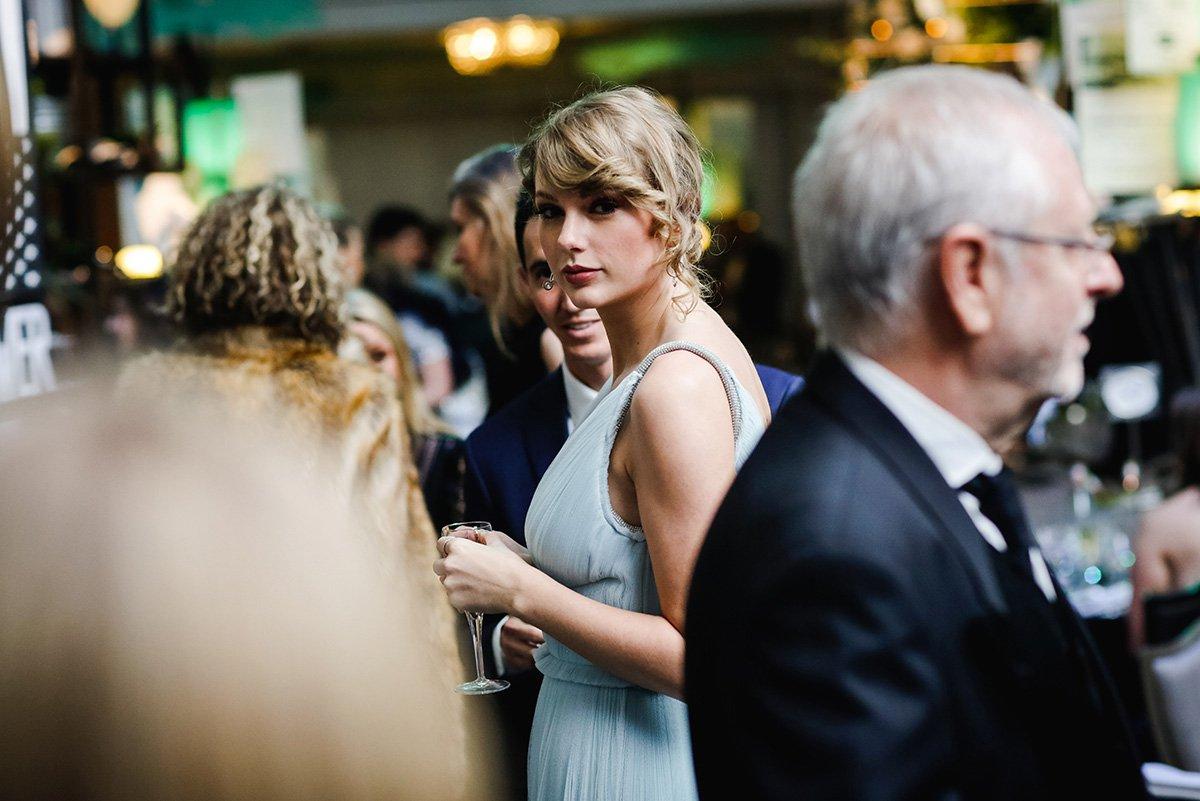 Mandatory Credit: Photo by Thomas Alexander/BAFTA/REX (10101148c) Taylor Swift 72nd British Academy Film Awards, After Party, Inside, Grosvenor House, London, UK - 10 Feb 2019