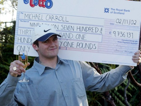 'Lotto lout' takes £10-an-hour lumberjack job after blowing £10,000,000 on partying