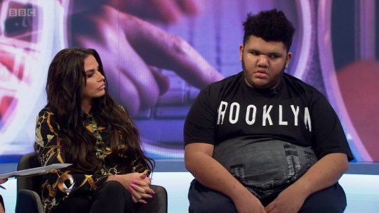 Katie Price talks about online bullying towards her son Harvey on 'Victoria Derbyshire'. Broadcast on BBC Two When: 06 Feb 2019 Credit: Supplied by WENN **WENN does not claim any ownership including but not limited to Copyright, License in attached material. Fees charged by WENN are for WENN's services only, do not, nor are they intended to, convey to the user any ownership of Copyright, License in material. By publishing this material you expressly agree to indemnify, to hold WENN, its directors, shareholders, employees harmless from any loss, claims, damages, demands, expenses (including legal fees), any causes of action, allegation against WENN arising out of, connected in any way with publication of the material.**
