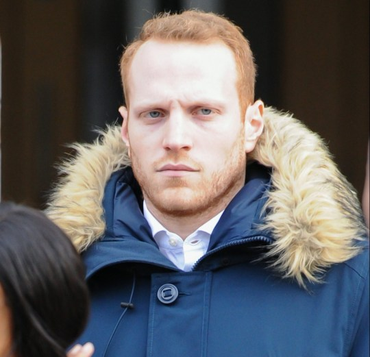 Pic shows James Elton leaving Camberwell Magistrates' Court. A 'Gareth Southgate lookalike' accused of climbing on top of a London ambulance after England?s World Cup quarter final win over Sweden denied damaging property today (mon). James Elton, 27, allegedly clambered on top of the emergency vehicle wearing the England manager?s trademark navy waistcoat and tie. Elton, Larissa Bell, 21, Scott Dennett, 25, Singaporean Perry Kangyue Jian, 26, were all allegedly part of the crowd which spilled out into Borough High Street to celebrate England's 2-0 victory. The rapid response car was left with a shattered windscreen and dents in its bonnet. SEE STORY CENTRAL NEWS