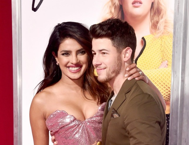 """LOS ANGELES, CALIFORNIA - FEBRUARY 11: (L-R) Priyanka Chopra and Nick Jonas attend the premiere of Warner Bros. Pictures' """"Isn't It Romantic"""" at The Theatre at Ace Hotel on February 11, 2019 in Los Angeles, California. (Photo by Alberto E. Rodriguez/Getty Images)"""