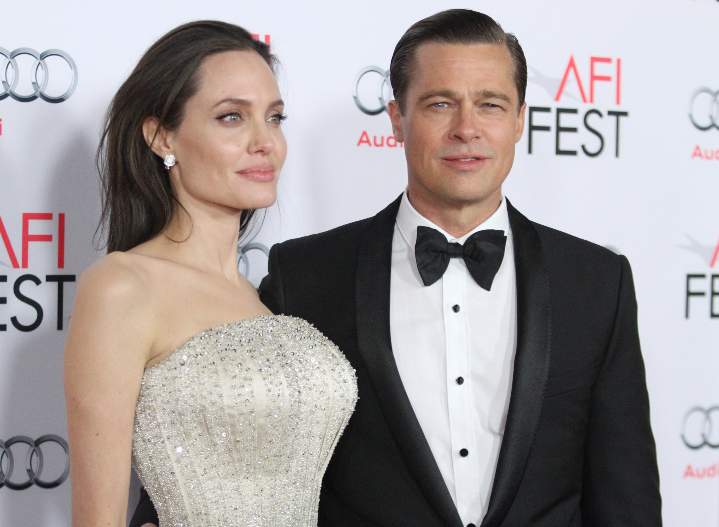 Mandatory Credit: Photo by Matt Baron/REX/Shutterstock (5354923u) Angelina Jolie and Brad Pitt 'By the Sea' film premiere, Los Angeles, America - 05 Nov 2015