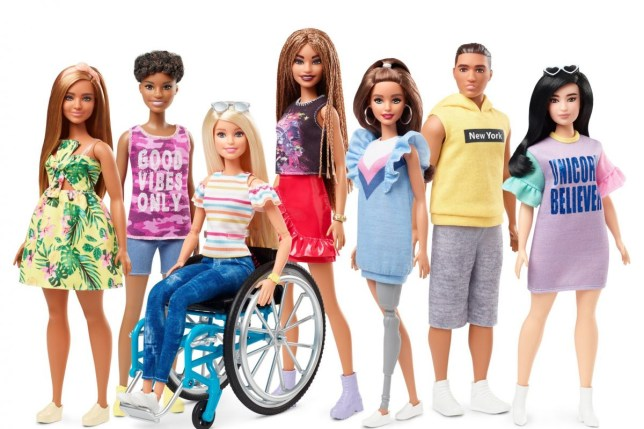 New Barbie in a wheelchair and with a prosthetic leg