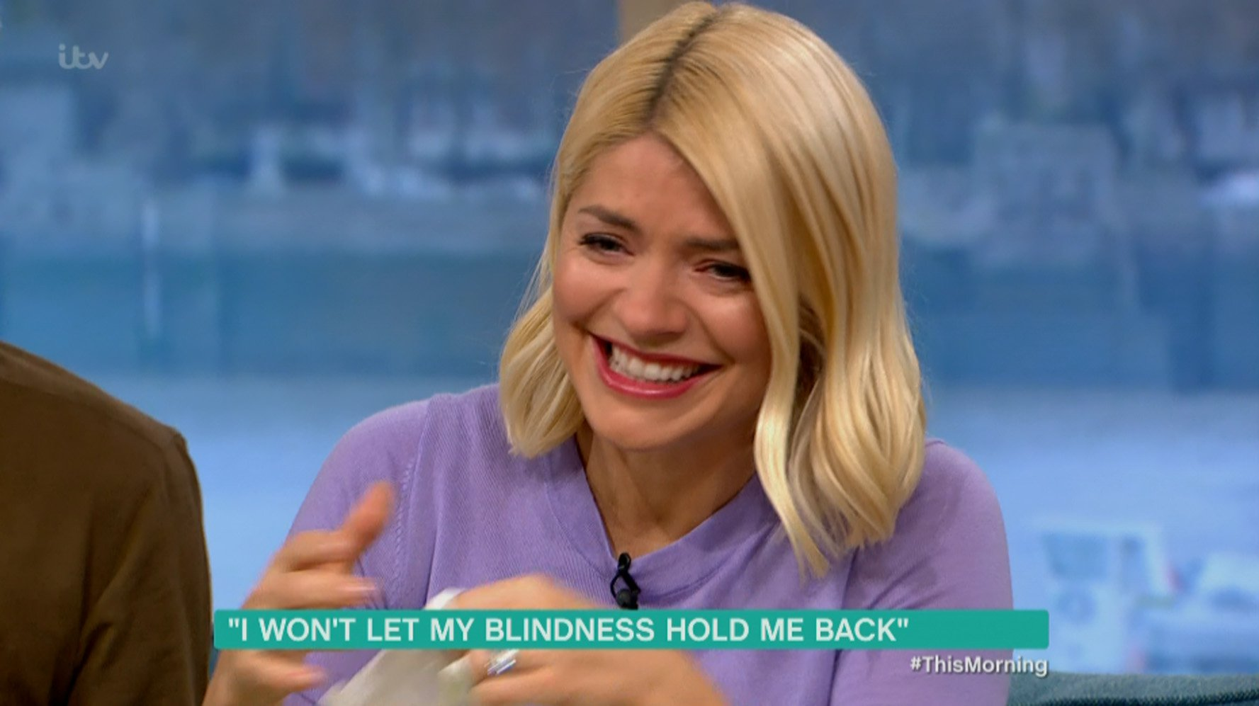****Ruckas Videograbs**** (01322) 861777 *IMPORTANT* Please credit ITV for this picture. 12/02/19 This Morning - ITV1 Grabs from this morning's show which saw presenter Holly Willoughby become emotional after watching a 10-year-old boys reaction to being told he will be a mascot for an England international football match. Declan Bitmead had been on the show alongside his mother Ashleigh to talk about his rare condition Toxic Epidermal Necrolysis which has left him blind following an allergic reaction to antibiotics and was delighted to learn that the show had organised the surprise for him. But it was Holly, sat alongside Phillip Schofield, who started to cry. Office (UK) : 01322 861777 Mobile (UK) : 07742 164 106 **IMPORTANT - PLEASE READ** The video grabs supplied by Ruckas Pictures always remain the copyright of the programme makers, we provide a service to purely capture and supply the images to the client, securing the copyright of the images will always remain the responsibility of the publisher at all times. Standard terms, conditions & minimum fees apply to our videograbs unless varied by agreement prior to publication.