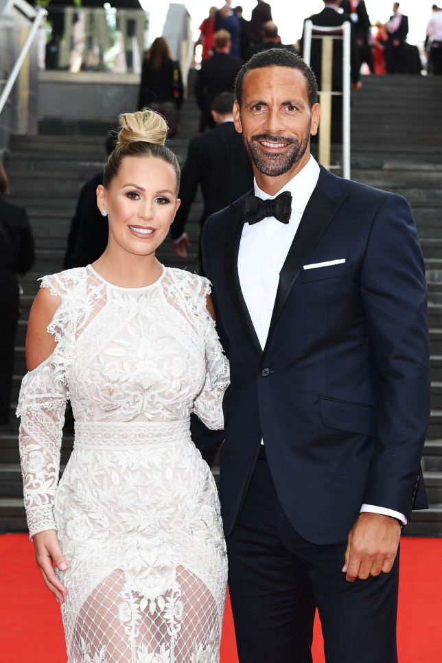 Mandatory Credit: Photo by Jonathan Hordle/BAFTA/REX/Shutterstock (9670136au) Kate Wright and Rio Ferdinand British Academy Television Awards, Arrivals, Royal Festival Hall, London, UK - 13 May 2018