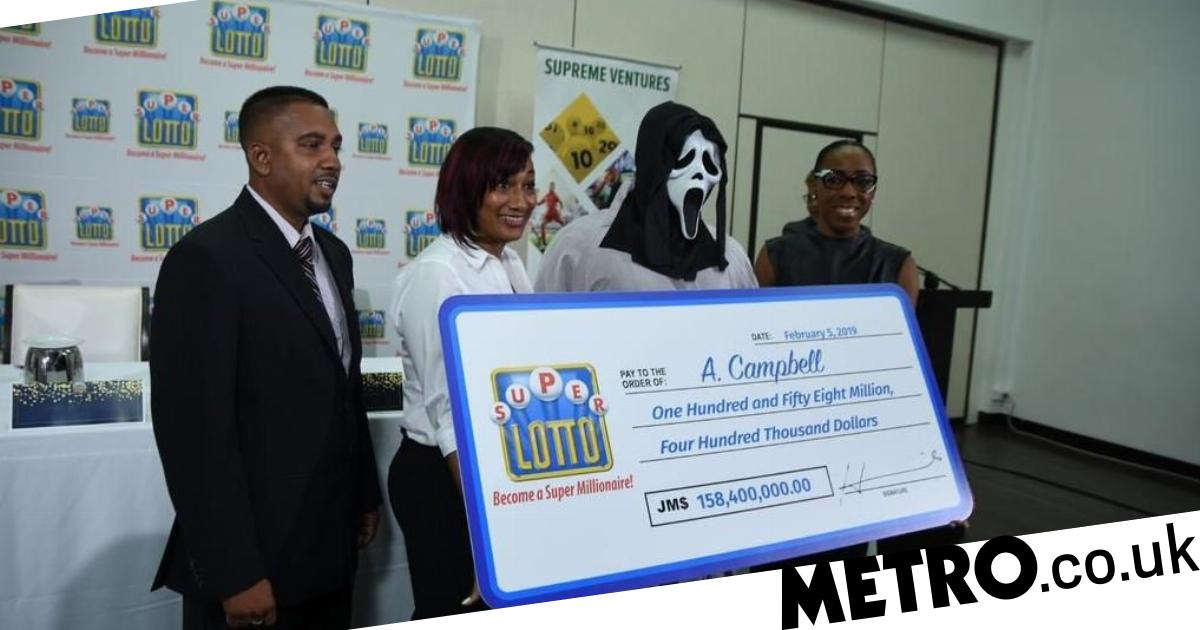 Lottery winner 'shows up in Scream mask so family won't beg him for
