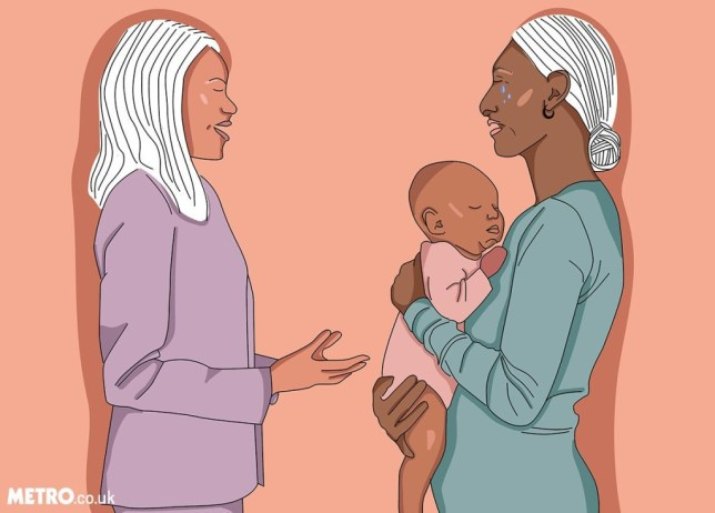 Caption: Here's how to talk to your boss about post-natal depression Ph?be Lou Morson for Metro.co.uk Phebe Fertility Series