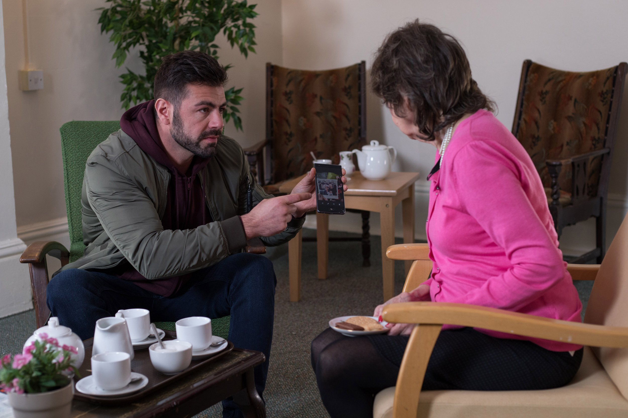 Sylver finds his mum in Hollyoaks