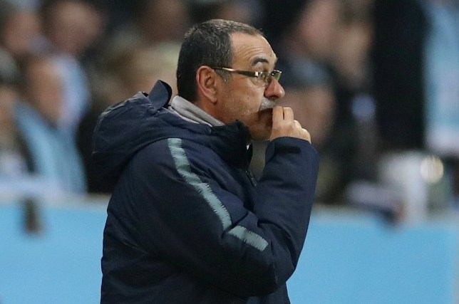 Soccer Football - Europa League - Round of 32 First Leg - Malmo FF v Chelsea - Swedbank Stadion, Malmo, Sweden - February 14, 2019 Chelsea manager Maurizio Sarri during the match Action Images via Reuters/Peter Cziborra