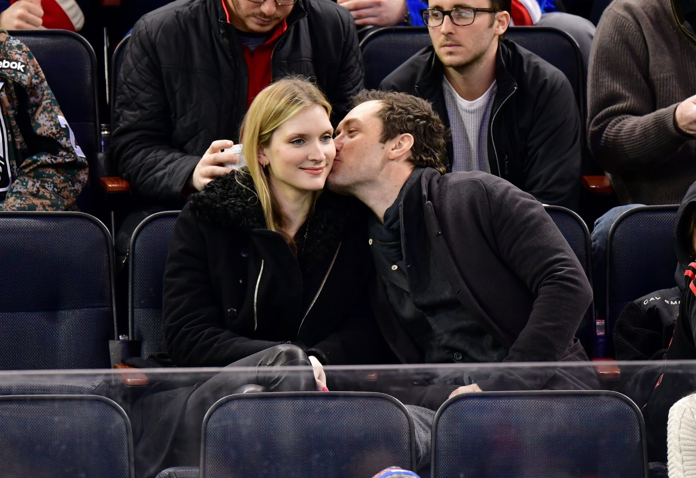 Mandatory Credit: Photo by Jd Images/REX/Shutterstock (7582848ag) Phillipa Coan and Jude Law New Jersey Devils v New York Rangers, NHL ice hockey, Madison Square Garden, New York, USA - 18 Dec 2016