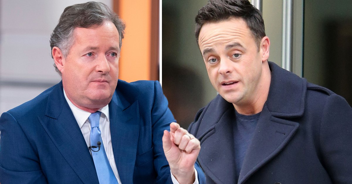 Ant McPartlin 'sends strongly-worded email to Piers Morgan' after GMB host suggests he's only 'walked the dog' this year