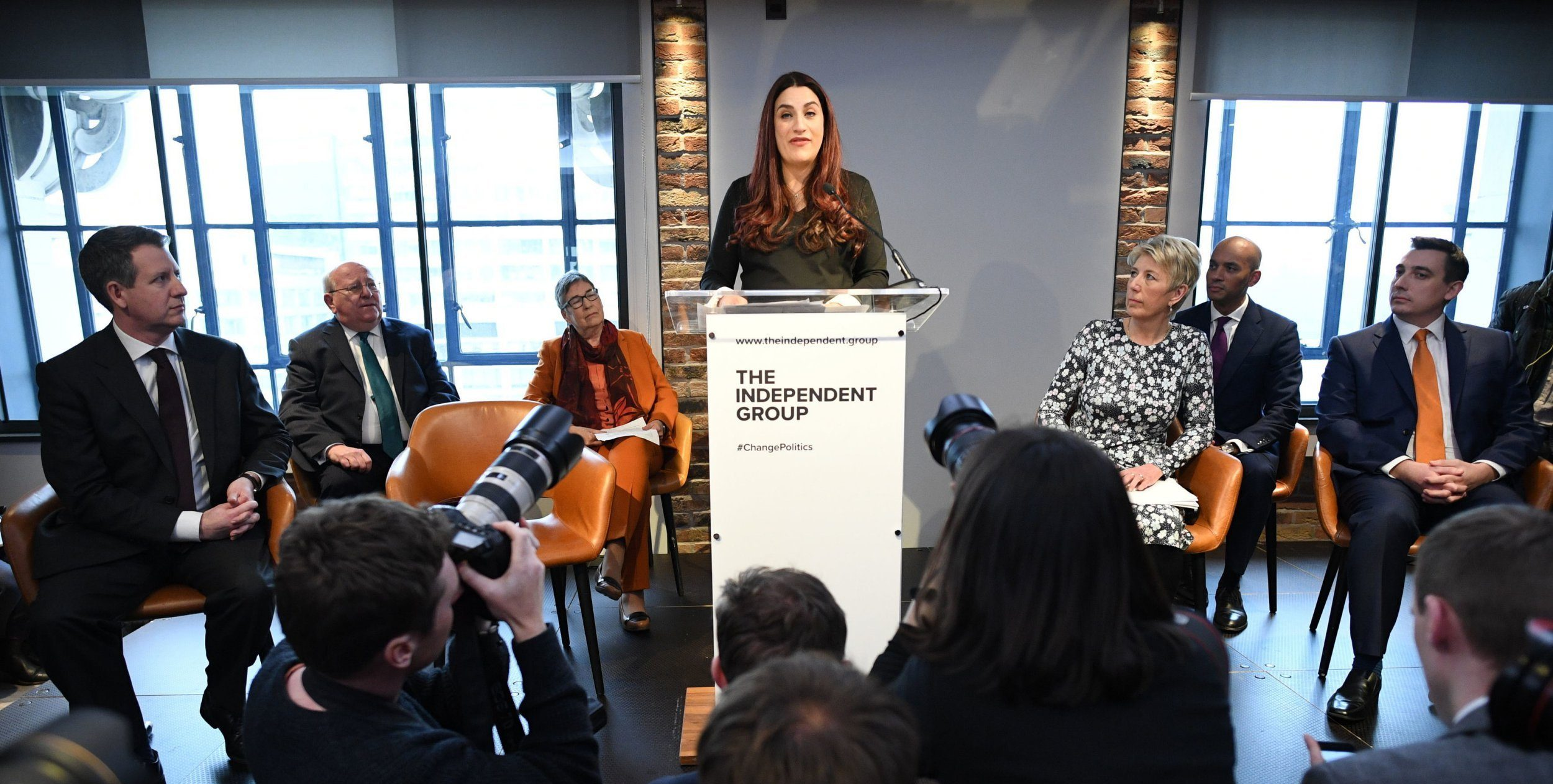 Labour MP Luciana Berger who has announced her resignation during a press conference at County Hall in Westminster, London where a group of six Labour MPs, including Chris Leslie, Chuka Umunna, Gavin Shuker, Angela Smith and Mike Gapes announced their resignation from the party. PRESS ASSOCIATION Photo. Picture date: Monday February 18, 2019. See PA story POLITICS Labour. Photo credit should read: Stefan Rousseau/PA Wire