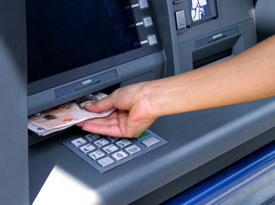 Taking out cash from ATM (British pounds)