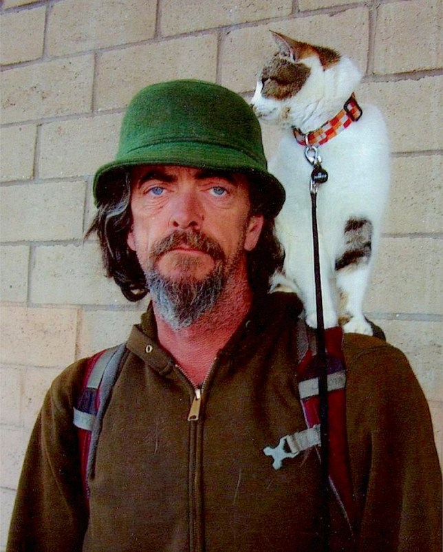 Michael King and his cat Tabor. Pictures for Deborah Arthurs b6d748f48