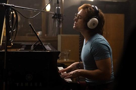 Taron Egerton as Rocketman Credit: Marv Studios