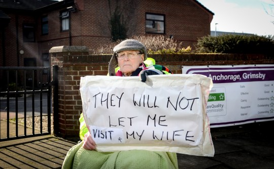 Dennis Daniels who claims he's not allowed to visit his wife at The Anchorage in Grimsby.