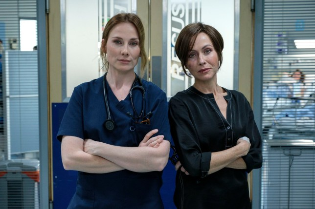 Rosie Marcel and Amanda Mealing as Casualty and Holby City cross over