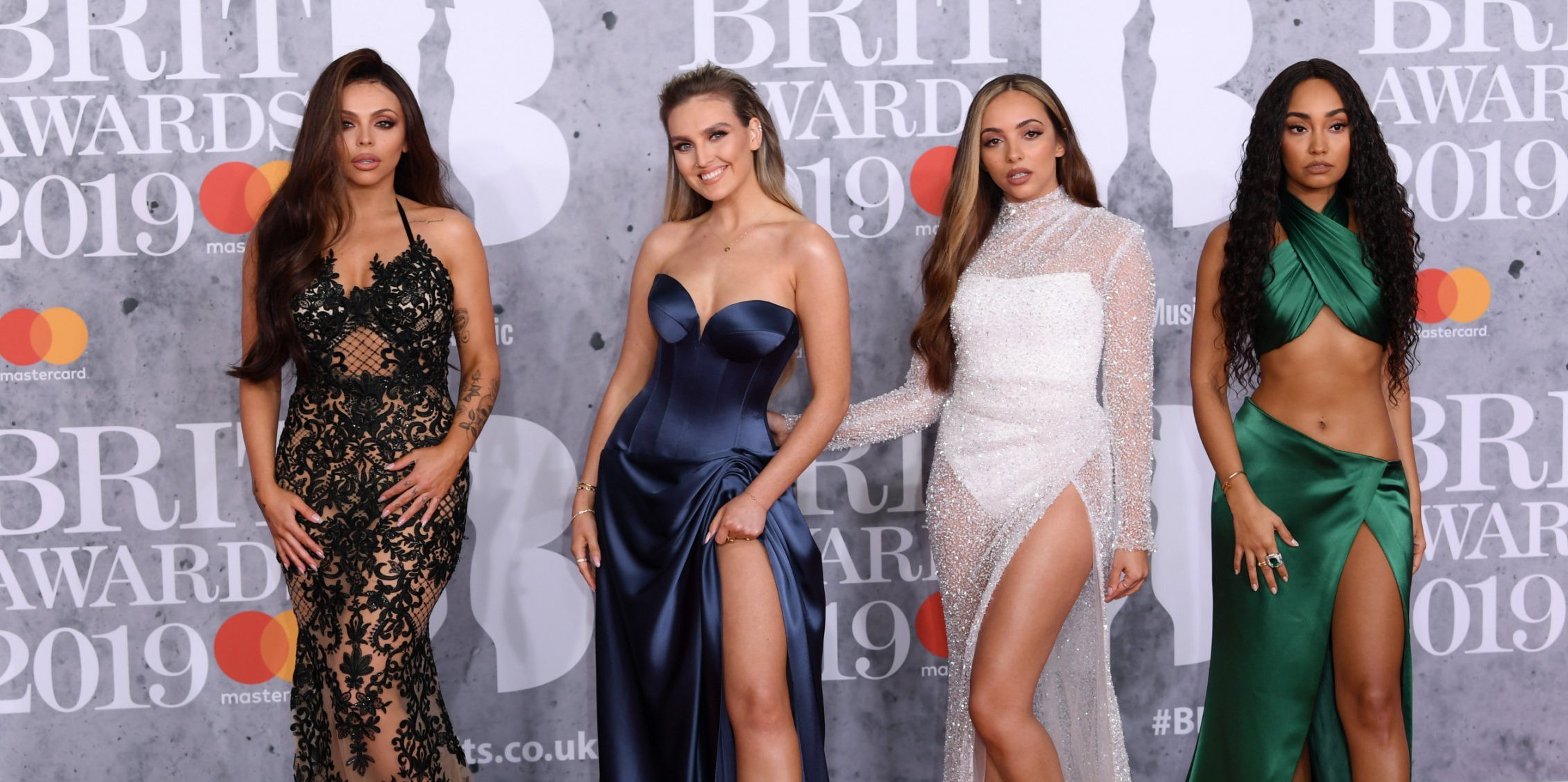 Mandatory Credit: Photo by David Fisher/REX (10110752ei) Little Mix - Jesy Nelson, Perrie Edwards, Jade Thirlwall and Leigh-Anne Pinnock 39th Brit Awards, Arrivals, The O2 Arena, London, UK - 20 Feb 2019