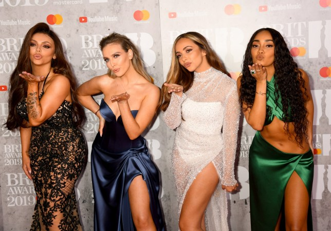 LONDON, ENGLAND - FEBRUARY 20: Jesy Nelson, Perrie Edwards, Jade Thirlwall and Leigh-Anne Pinnock of Little Mix attend The BRIT Awards 2019 held at The O2 Arena on February 20, 2019 in London, England. (Photo by Dave J Hogan/Getty Images)