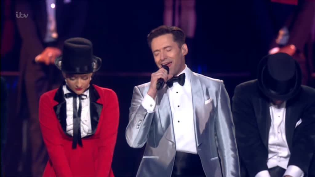 Brit Awards 2019 Hugh Jackman Jack Whitehall Picture: ITV METROGRAB