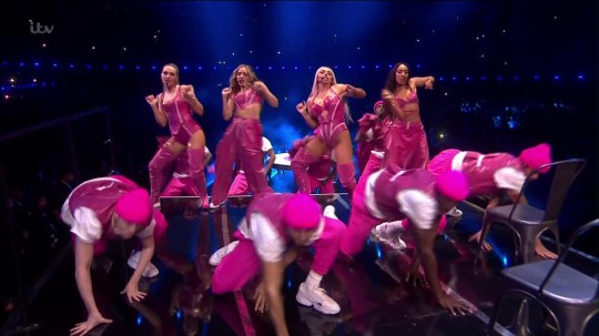 Brit Awards 2019 Little Mix perform Picture; ITV METROGRAB